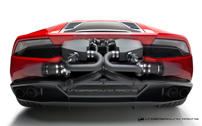 Underground Racing Twin Turbo Lamborghini Huracan Rear Desktop Wallpaper